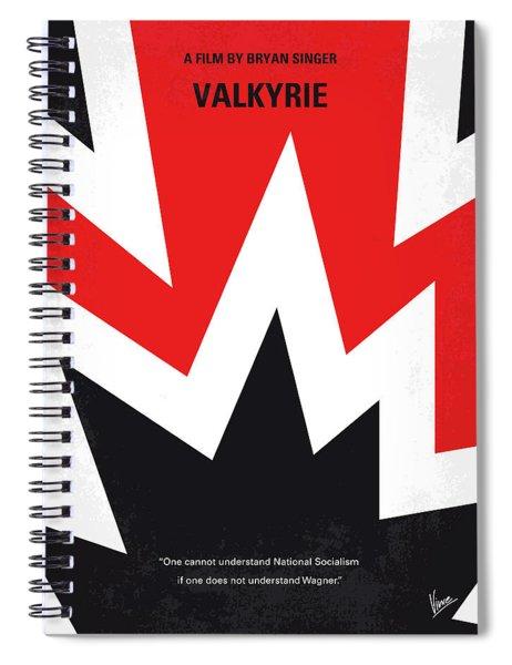 No876 My Valkyrie Minimal Movie Poster Spiral Notebook