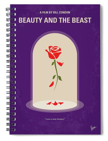 No878 My Beauty And The Beast Minimal Movie Poster Spiral Notebook