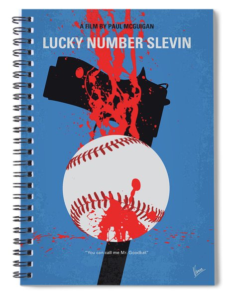No880 My Lucky Number Slevin Minimal Movie Poster Spiral Notebook