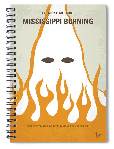 No882 My Mississippi Burning Minimal Movie Poster Spiral Notebook