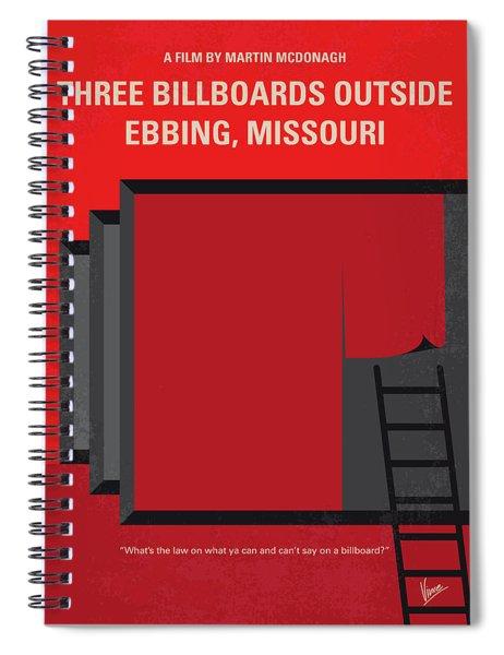 No900 My Three Billboards Minimal Movie Poster Spiral Notebook