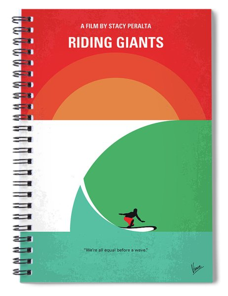 No915 My Riding Giants Minimal Movie Poster Spiral Notebook