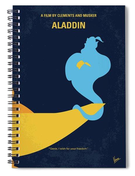 No920 My Aladdin Minimal Movie Poster Spiral Notebook