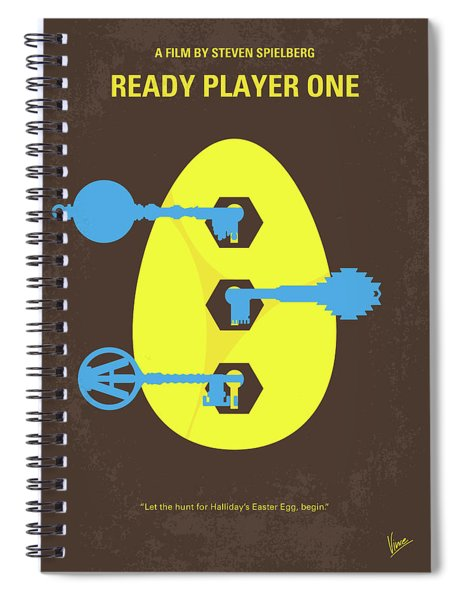 No929 My Ready Player One Minimal Movie Poster Spiral Notebook