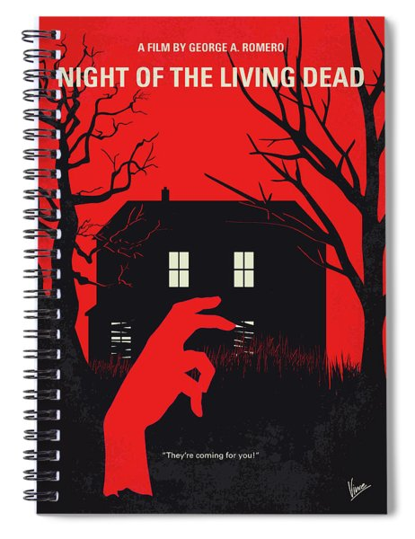 No935 My Night Of The Living Dead Minimal Movie Poster Spiral Notebook