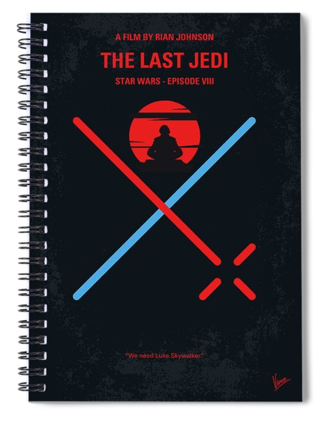 No940 My Star Wars Episode Viii The Last Jedi Minimal Movie Poster Spiral Notebook