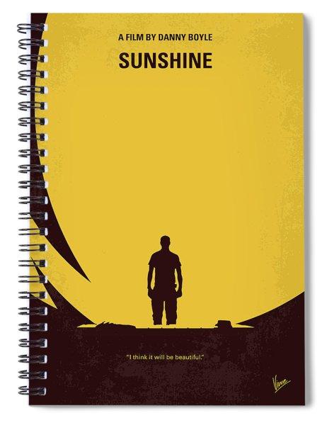 No947 My Sunshine Minimal Movie Poster Spiral Notebook