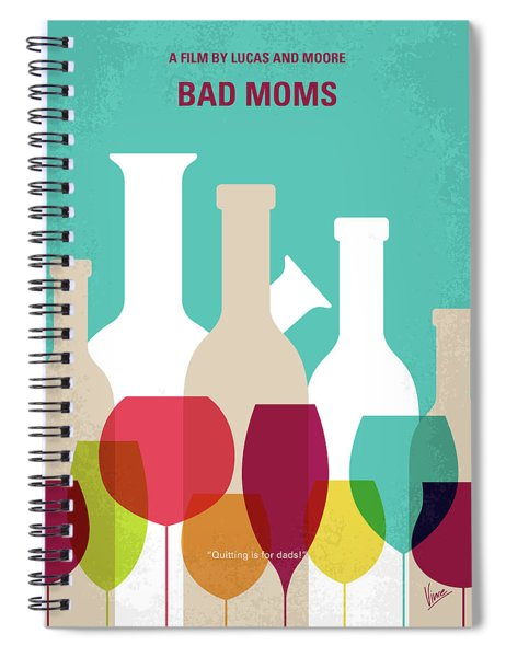 No951 My Bad Moms Minimal Movie Poster Spiral Notebook