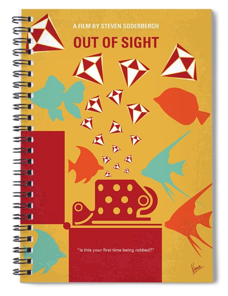 No953 My Out Of Sight Minimal Movie Poster Spiral Notebook