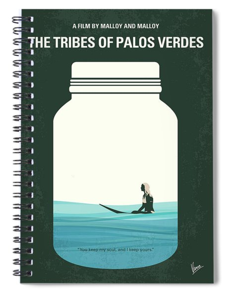 No957 My The Tribes Of Palos Verdes Minimal Movie Poster Spiral Notebook