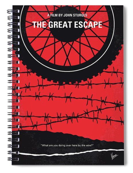 No958 My The Great Escape Minimal Movie Poster Spiral Notebook