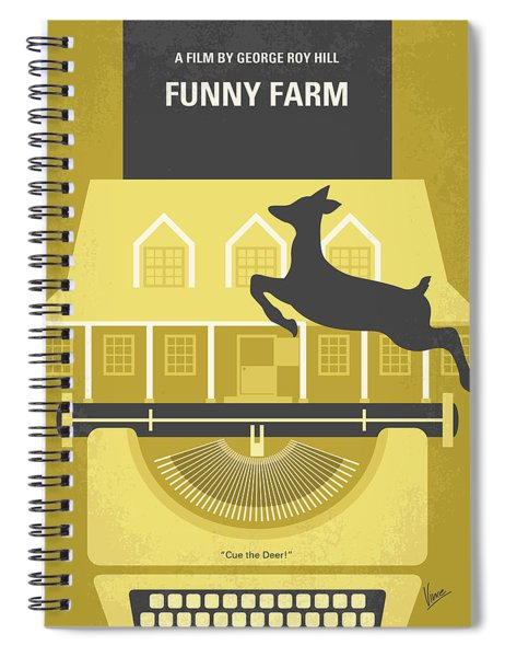 No959 My Funny Farm Minimal Movie Poster Spiral Notebook