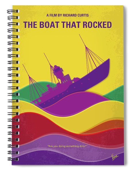 No961 My The Boat That Rocked Minimal Movie Poster Spiral Notebook
