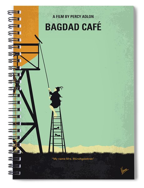 No964 My Bagdad Cafe Minimal Movie Poster Spiral Notebook
