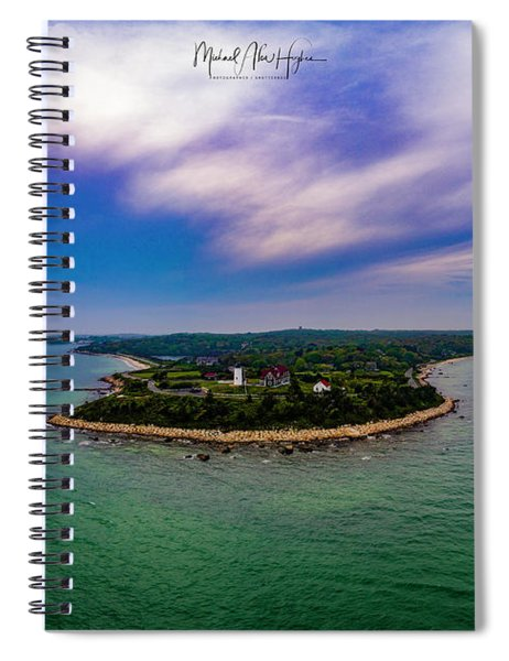 Nobska Lighthouse Panorama Spiral Notebook