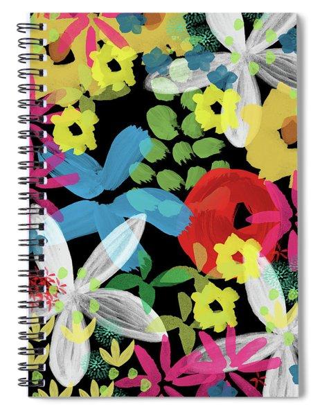 Nocturnal Garden- Art By Linda Woods Spiral Notebook
