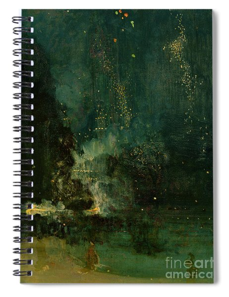 Nocturne In Black And Gold - The Falling Rocket Spiral Notebook