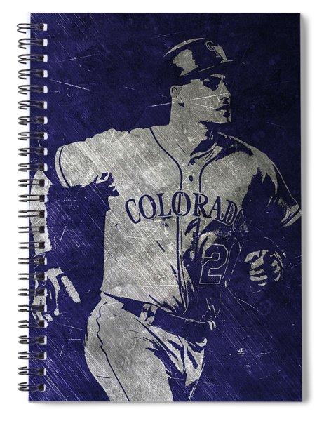 Nolan Arenado Colorado Rockies Art Spiral Notebook