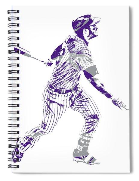 Nolan Arenado Colorado Rockies Pixel Art 10 Spiral Notebook