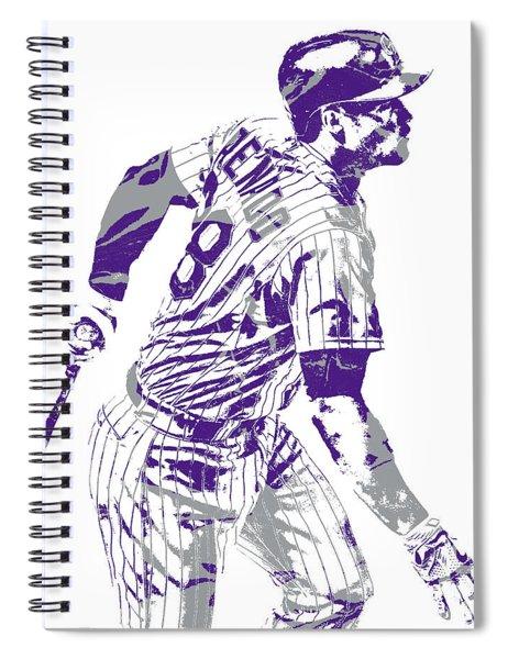 Nolan Arenado Colorado Rockies Pixel Art 11 Spiral Notebook