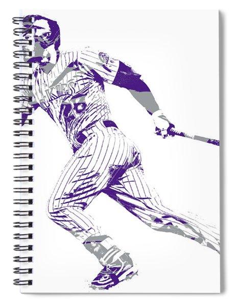 Nolan Arenado Colorado Rockies Pixel Art 12 Spiral Notebook