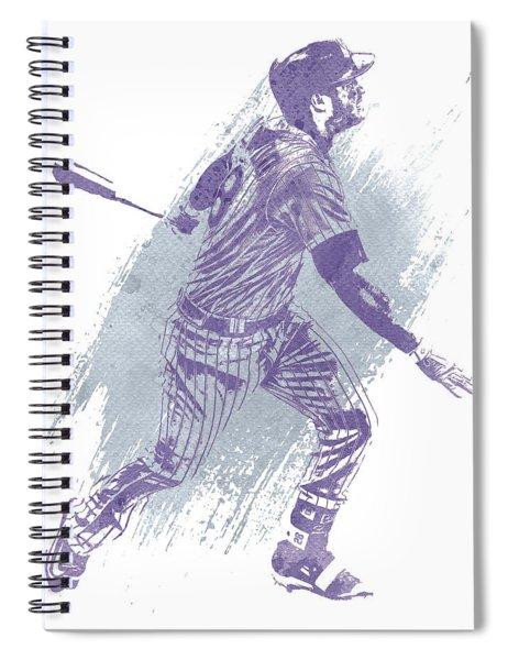 Nolan Arenado Colorado Rockies Water Color Art 1 Spiral Notebook