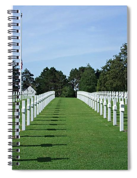 Normandy Memorial Cemetery - There Are No Words Spiral Notebook