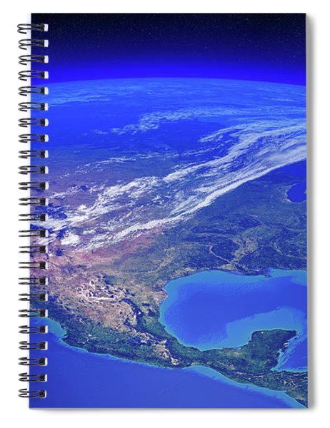 North America Seen From Space Spiral Notebook