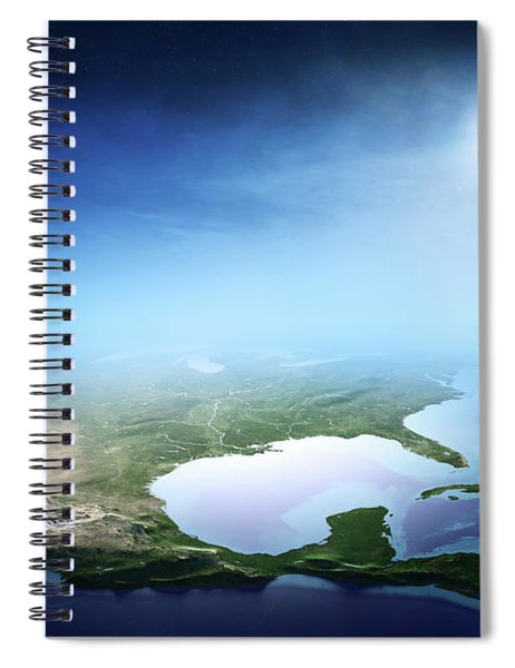 North America Sunrise Aerial View Spiral Notebook