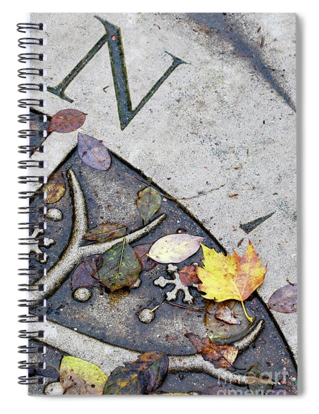North Autumn Leaves Spiral Notebook