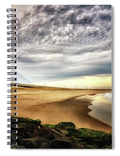 North Beach At Indian River Inlet Spiral Notebook