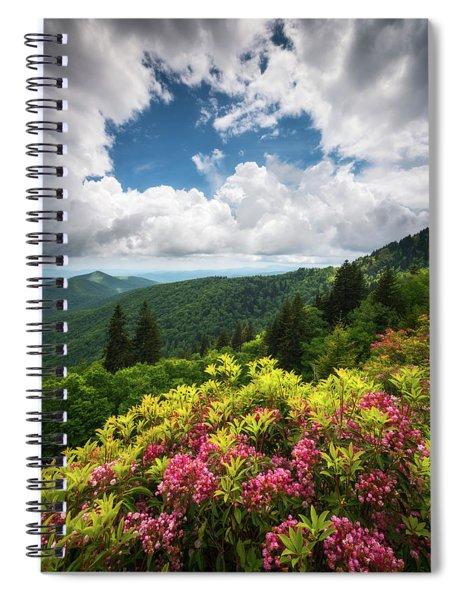 North Carolina Appalachian Mountains Spring Flowers Scenic Landscape Spiral Notebook