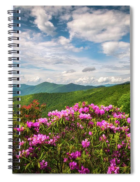 North Carolina Spring Flowers Mountain Landscape Blue Ridge Parkway Asheville Nc Spiral Notebook