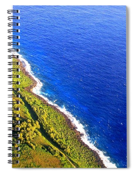 North Coast Of Tinian At Sunrise Spiral Notebook