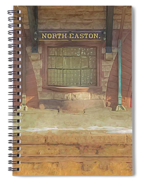 North Easton Train Station At Solstice Spiral Notebook