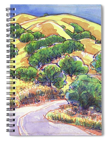 North Gate Road, Mount Diablo Spiral Notebook