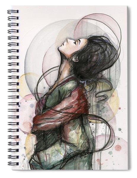 Beautiful Lady Spiral Notebook