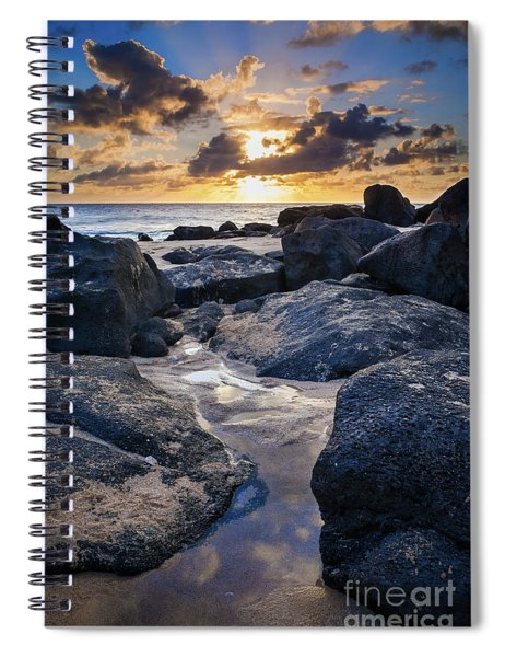 North Shore Sunset Spiral Notebook