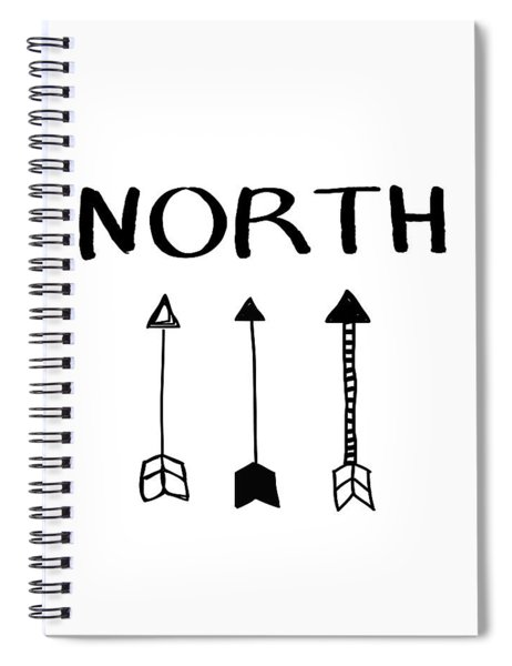 North With Arrows- Art By Linda Woods Spiral Notebook