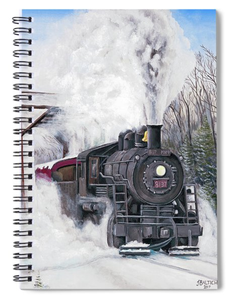 Northbound At 35 Below Spiral Notebook