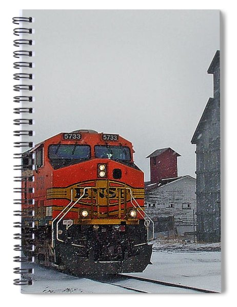 Northbound Winter Coal Drag Spiral Notebook