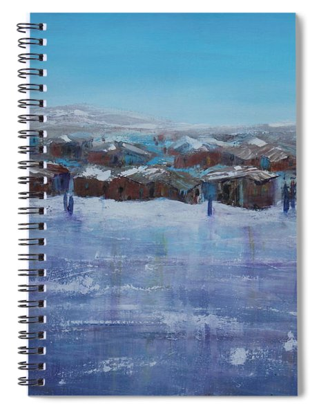Northern Fishing Village Spiral Notebook