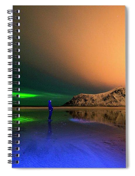 Northern Light In Lofoten, Nordland 4 Spiral Notebook