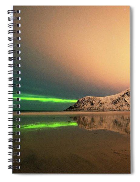 Northern Light In Lofoten Nordland 5 Spiral Notebook