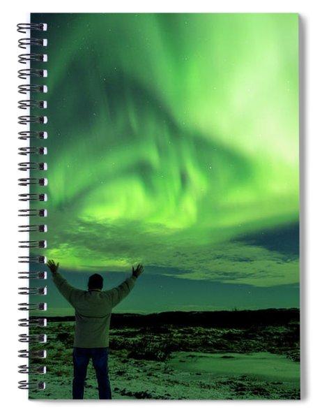 Northern Light In Western Iceland Spiral Notebook