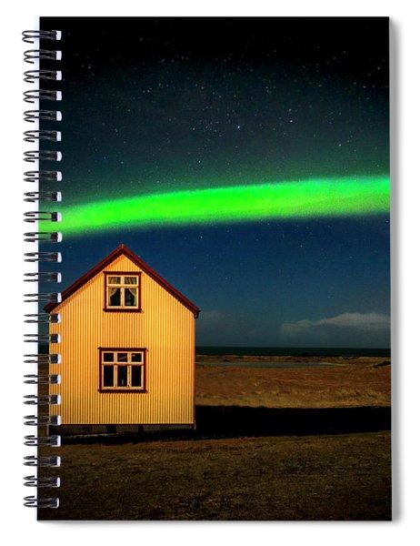 Northern Lights Of Iceland 1 Spiral Notebook