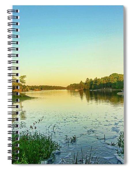 Northern Ontario Lake Spiral Notebook