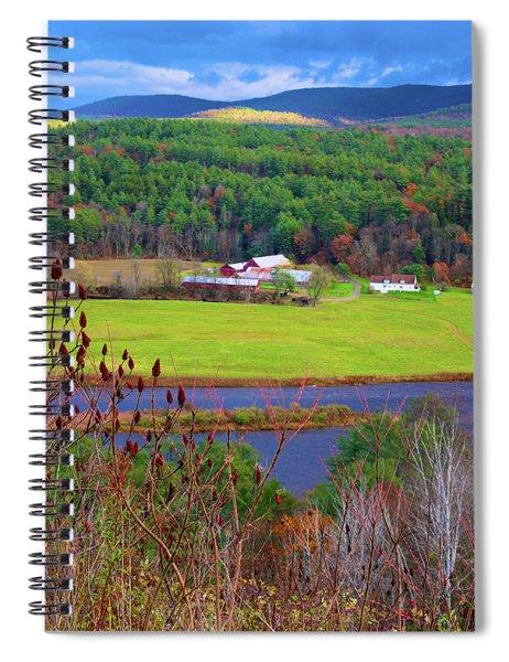 Northern Vermont Vista Spiral Notebook
