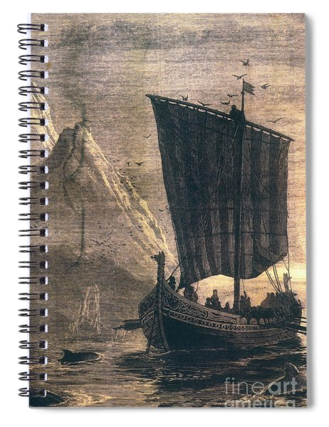 Norwegian Viking Longship Spiral Notebook