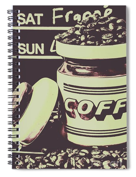 Nostalgic Cafe Art Spiral Notebook